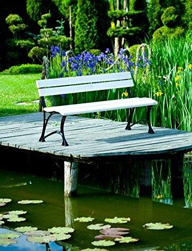 GOLD GARDEN G02021 Gartenbank Toskana aus weissem Fichtenholz 180 cm für 4 Personen - 4