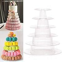 Full House Présentoir à macarons rond professionnel à 6 étages pour gâteau de mariage ou d'anniversaire