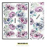 Festnight Nail Art Stickers selbstklebende 3D Acryl Gravierte Blume Nagel Aufkleber Geprägte...