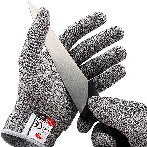 Schnittfeste HandschuheSchnittschutzhandschuheLeistungsfähiger Level 5 Schutz Lebensmittelecht L