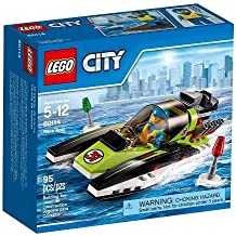 LEGO City Race Boat with Includes a Race Boat Driver Minifigure 60114 by Illuminations