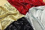Tickit 73820paillettes tessuto confezione, 4pezzi, oro/rosso/argento/nero