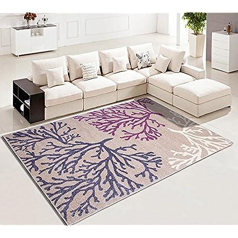 Moderno Minimalista Salón Dormitorio Alfombra de la Cama Estilo Europeo Rectángulo Sofá Mesa de café Mat Sala de estar Alfombra ( Color : # 2 , Tamaño : 0.8*1.15m )