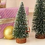 Sharplace Mini Tanne Weihnachtsbaum Weihnachtsdeko dekorierter Künstlicher Tannenbaum Tischdeko - Grün, 25cm