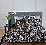 Merryfeel Bettwäschegarnitur, 100 % mit Blumenmuster bedrucktes Bettbezug-Set, baumwolle, multi,...