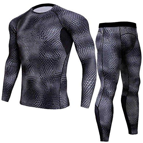 V I Y Kostüm Gift - Herren Trainingsanzug Overall Jumpsuit Jogger Jogging Anzug-Atmungsaktiv Kompressions Shirt Pants Set