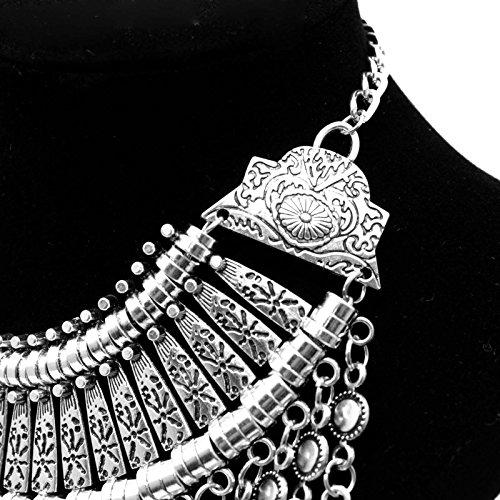 Preisvergleich Produktbild HuaYang Schick Retro Ethnische Art Böhmisch Antalya Zigeuner Fest Türkische Münze Halsband Opulente Halskette Silber Farbe