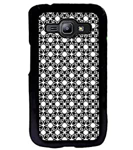 Fuson Premium Heart Floral Design Metal Printed with Hard Plastic Back Case Cover for Samsung Galaxy J1
