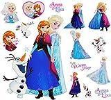 Unbekannt 15 TLG. Set _ Wandtattoo / Sticker + Fensterbilder -  Disney die Eiskönigin - Frozen  - Wandsticker + Fenstersticker - Aufkleber für Kinderzimmer - völlig u..