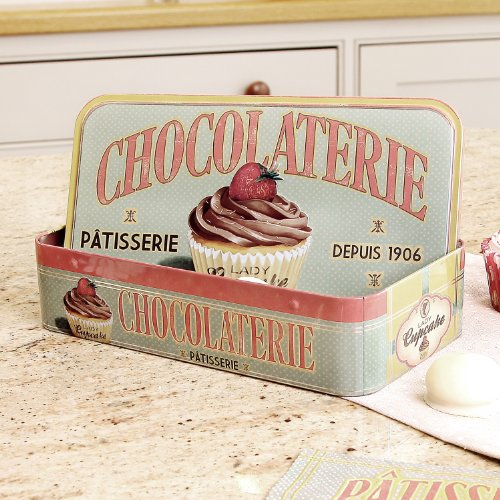 Vintage Retro Kitchen Chocolate Storage Box Tin 24cm for sale  Delivered anywhere in UK