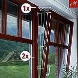M.Versand Kippfenster-Schutzgitter Set, 3-tlg, Metall, weiß - 65x62 cm, inkl. Schrauben & Klebestreifen