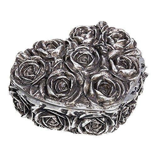 Alchemy Gothic Rose Heart Box (Silber) -