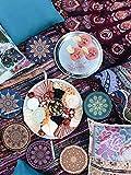 DINGHENG Untersetzer Saugfähige Keramik Untersetzer mit Korkrücken Mandala Stil für Tassen Tisch Bar Glas 6er Set - 6