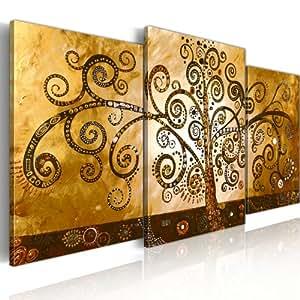 murando handgemalte bilder auf leinwand triptychon 130x70 cm 3 teilig 100 unikat gem lde. Black Bedroom Furniture Sets. Home Design Ideas