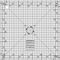 """Isomars Square Quilting Scale - 6.5"""""""