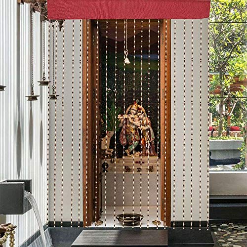 check MRP of wooden beaded door curtains Kuber Industries