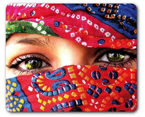 1art1 Frauen - Arabische Augen Mauspad 23 x 19 cm