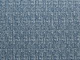 Leinen Look Polyester passend Kleid Stoff Denim