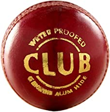 ABL Club Special 4 Piece Red Leather Ball for Match,Practice (Pack of 1)