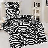 Microfaser Bettwäsche Garnitur Zebra African Dream 135x200 / 155x220 / 200x200, Größe:135 x 200 cm