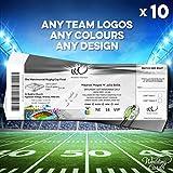 10x personalisierbar Fußball Rugby Union Tickets Hochzeit Einladungen Karten Einladungen Einladung Teams Match Final Einzigartige Weise jeder Größe Farbe personalisierbar jeder Text A4A5A6A7