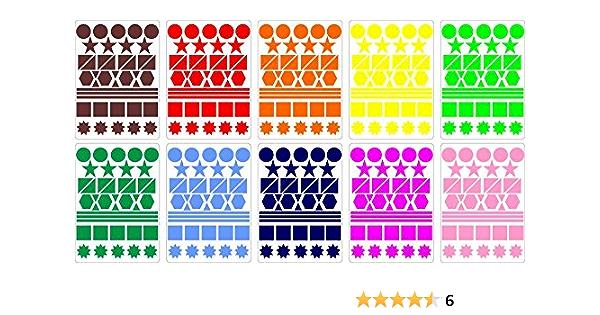 2.5 cm Manyao Paquet de 500 Autocollants Coeur /Étiquettes Autocollantes Papier Couleurs Gommettes Autocollantes Enfants Autocollante Violet