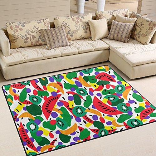 JSTEL ingbags Super Soft Moderne Retro Fruit, EIN Wohnzimmer Teppiche Teppich Schlafzimmer Teppich für Kinder Play massiv Home Decorator Boden Teppich und Teppiche 160x 121,9cm, Multi, 63 x 48 Inch Fruit Decorator