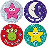 28mm Sparkly mixed praise stickers, pack of 54.