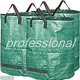 GardenMate® 3x 300L Gartensack PROFESSIONAL aus robustem Polypropylen-Gewebe