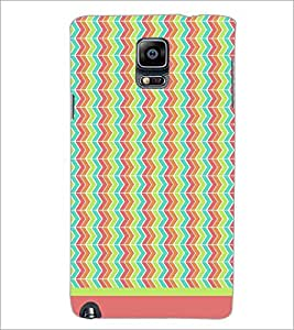 PrintDhaba Zig Zag Pattern D-1701 Back Case Cover for SAMSUNG GALAXY NOTE 3 (Multi-Coloured)