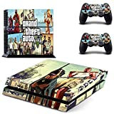 Generic Classic Grand Theft Auto 5 GTA 5 PS4 Console Vinyl Skin for Playstation 4 + 2 controllers sticker
