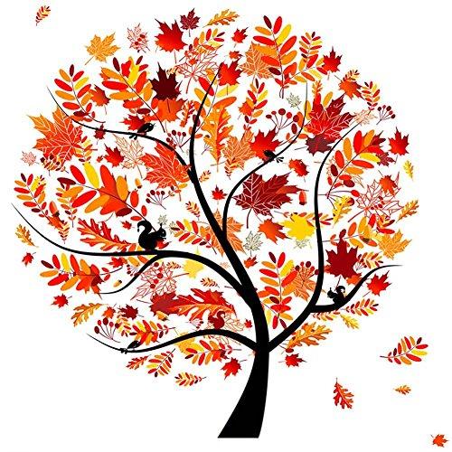 Fairylove 12 × 12 Diamant Malerei Kit volle vier Jahreszeiten Baum Kreuzstich Kit Handarbeit handgemachte Stickerei Kit Home Room Decor, Orange fruchtbare Herbst (Herbst-cross Stitch)
