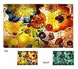 Startonight, nachleuchtendes Leinwandbild, Acrylglasbild, Plexiglasbild, Hypnotik Sensation, Kunstdruck, 80 cm x 120 cm, Abstrakt, fertig auf Keilrahmen gespannt.
