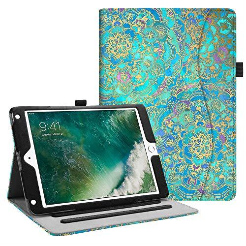 Fintie Hülle für iPad 9.7 Zoll 2018 2017 / iPad Air 2 / iPad Air - [Eckenschutz] Multi-Winkel Betrachtung Folio Stand Schutzhülle Case mit Dokumentschlitze, Auto Wake/Sleep, Jade -