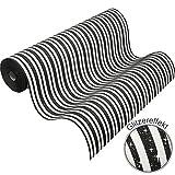 Vliestapete Streifen schwarz weiß Glitzer Tapete PS Hypnose 13397-70