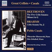 Beethoven-Cello Sonatas Nos 1-5; Minuet in G; Brahms-Cello Sonata No 2