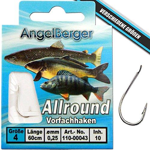 Angel Berger Vorfachhaken gebundene Haken (Allround, Gr.10 0.20mm)