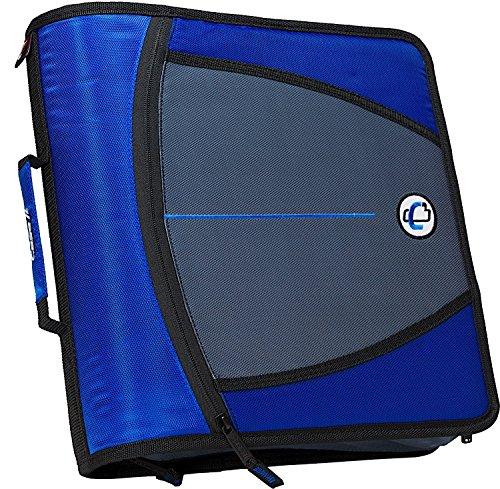 Case-it Mighty Zip Tab 3-Inch Zipper Binder, Blue, D-146-BLU by Case-It