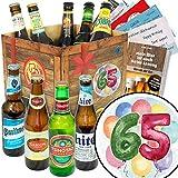 Geschenke zum 65. | Geschenkbox Biere der Welt