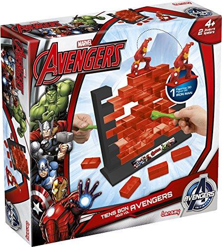 Lansay - 74925 - Jeu d'action Et De Réflexe - Tiens Bon - Avengers