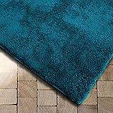 Floordirekt Shaggy-Teppich Prestige | Türkis | weicher Hochflor Teppich für Wohnzimmer, Schlafzimmer, Kinderzimmer | Viele Größen (Türkis, 200x200 cm)