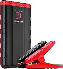 Suaoki U3 Jump Starter 8,000mAh 400A Corrente di Picco Avviatore di Emergenza Batteria Litio Come Caricabatteria per Cellulare, con Pinza Intelligente