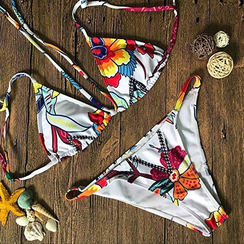 Brasilianische Unten Bademode (Zooarts 2018sexy Frauen brasilianisches Micro Gepolsterte Bandage Bikini Set Badeanzug Bathing Beach Suit, Polyester, Multi, S)
