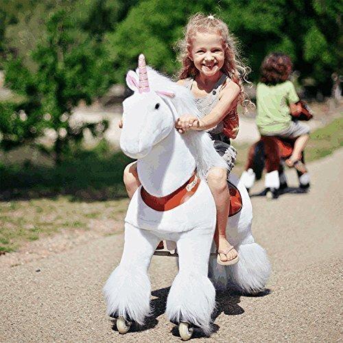 """Ponycycle """" Sternschnuppe """" Einhorn, Pony auf Rollen fahrendes Schaukelpferd und Kuscheltier für Ihr Kind von MyPony (Medium)"""