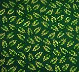 Baumwolle 100% Grün lässt Printed Light Weight 43