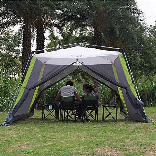 HEXhw Instant Canopy Shelter Screen Zelt, einfache Installation innerhalb von Minuten und gut für Familienpicknick geeignet für 5-8 Personen (Instant Zelte)