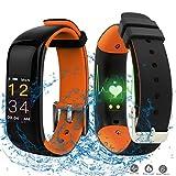 Sportuhr mit Smartwatch und Stoppuhr funktionen,Fitness Armband Wasserdicht von Schrittzähler Kalorienverbrauch Schlafüberwachung und Weckfunktion für Herren Damen