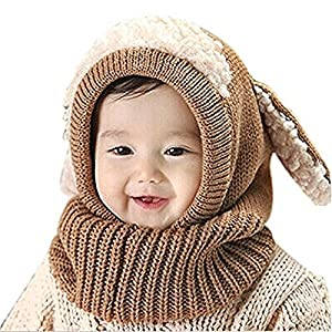 Panlom® Winter Baby Kids Girls Boys Warm Woolen coif Hood Scarf Caps Hats