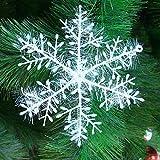 5x 30 Stück Schneeflocken Stern Schnee 10cm Weihnachtssterne Dekostern Fensterdeko Weihnachtsschmuck zum Hängen formbar Tischdeko/Weihnachtsdeko
