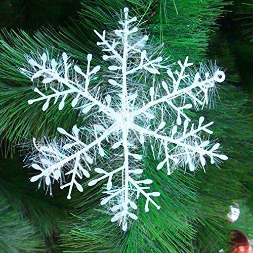 5x 30 Stück Schneeflocken Stern Schnee 10cm Weihnachtssterne Dekostern Fensterdeko Weihnachtsschmuck zum Hängen formbar Tischdeko/Weihnachtsdeko 10 Schnee